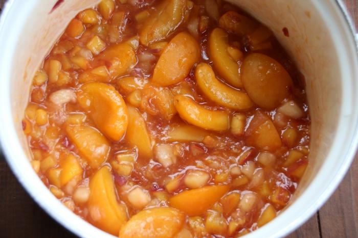 Фруктовая начинка для тарталеток из нектарин и абрикосов