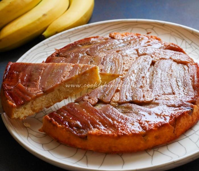 Творожная запеканка с карамелизированными бананами